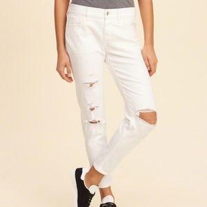 White Hollister Vintage Boyfriend Jeans